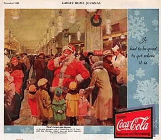 vater noel werbefirma coca cola